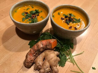 Winter's Night Soup | Creamy Sweet Potato & Carrot